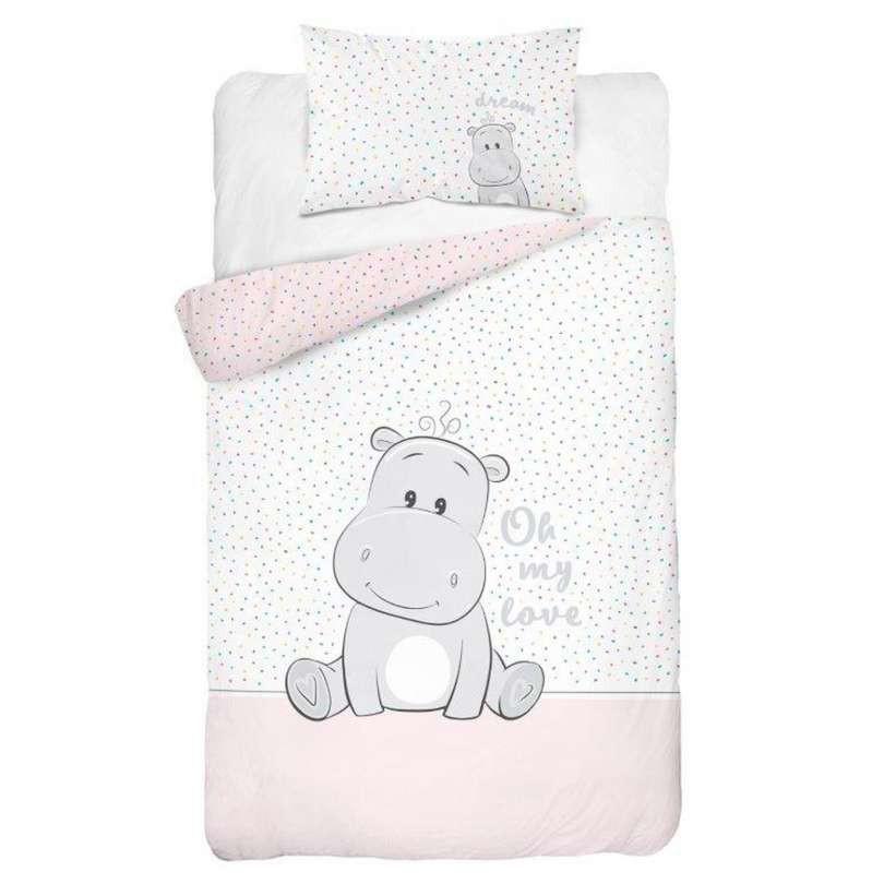 Babydekbedovertrek Nijlpaard M 100x135 cm