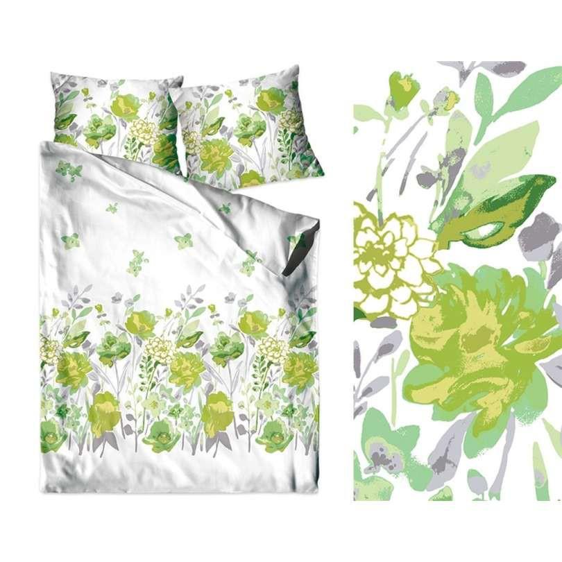 Dekbedovertrek set Green Flowers