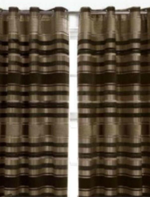 Kant en klaar ringgordijn 2 stuks Marianne Brown 228x228x2