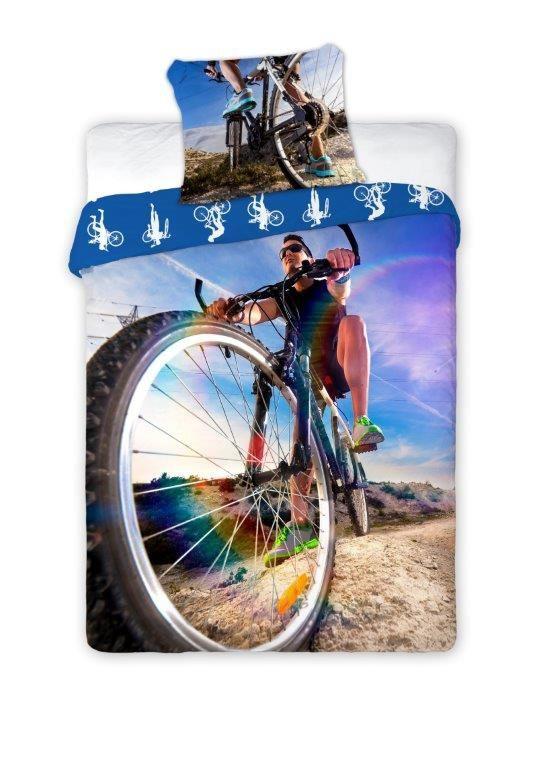 Tienerdekbedovertrek Bike 160x200 cm